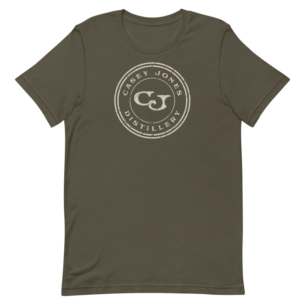 Casey Jones Distillery Brown Short Sleeve Circle Logo T-Shirt - Small